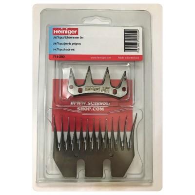 HEINIGER comb Set  JET TOPAZ